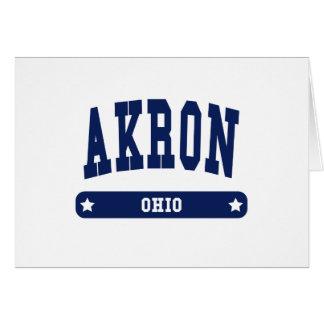 Camisetas del estilo de la universidad de Akron Oh Tarjeta