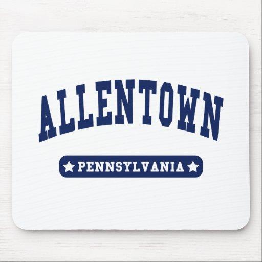 Camisetas del estilo de la universidad de Allentow Alfombrillas De Ratón