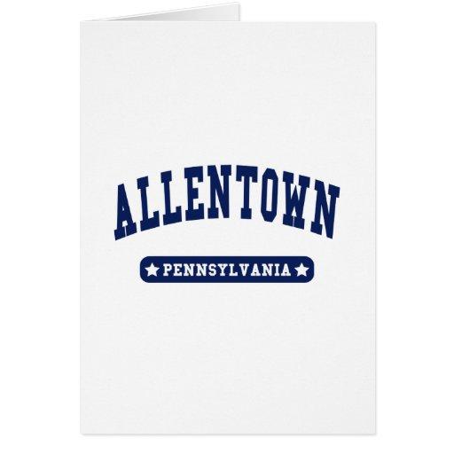 Camisetas del estilo de la universidad de Allentow Tarjeta De Felicitación