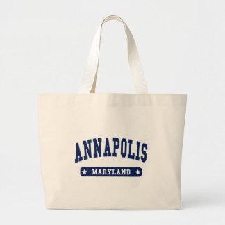 Camisetas del estilo de la universidad de Annapoli Bolsas