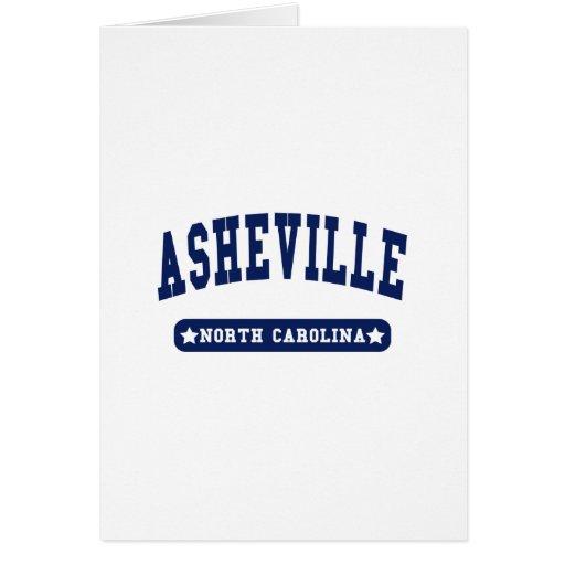 Camisetas del estilo de la universidad de Ashevill Tarjeta De Felicitación