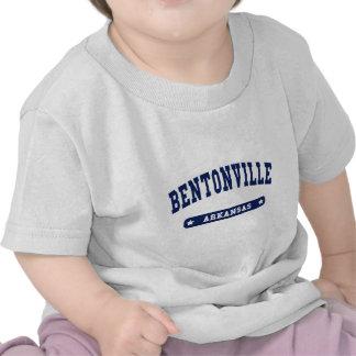 Camisetas del estilo de la universidad de Bentonvi