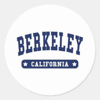 Camisetas del estilo de la universidad de Berkeley Etiquetas Redondas
