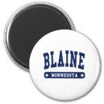 Camisetas del estilo de la universidad de Blaine M Iman Para Frigorífico
