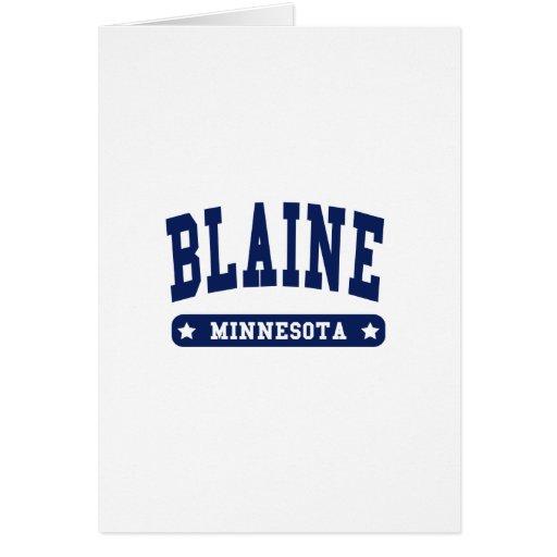 Camisetas del estilo de la universidad de Blaine M Tarjeton