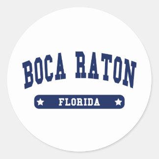 Camisetas del estilo de la universidad de Boca Rat Etiquetas