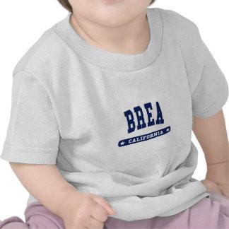Camisetas del estilo de la universidad de Brea Cal