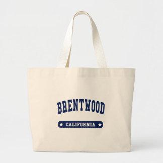 Camisetas del estilo de la universidad de Brentwoo Bolsa Lienzo