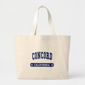 Camisetas del estilo de la universidad de Californ Bolsas Lienzo