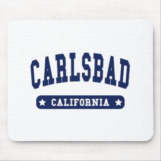 Camisetas del estilo de la universidad de Carlsbad Tapete De Ratones