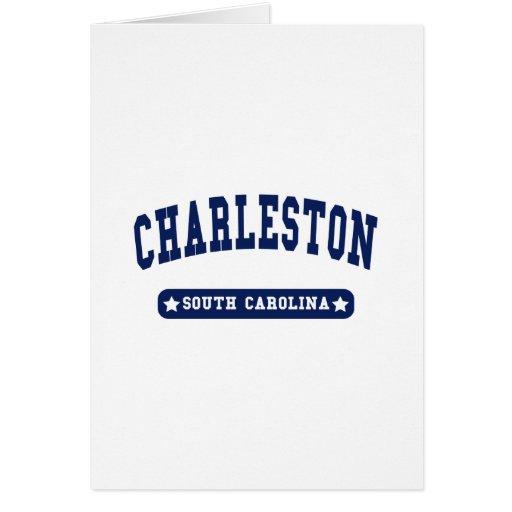 Camisetas del estilo de la universidad de Charlest Tarjeta De Felicitación