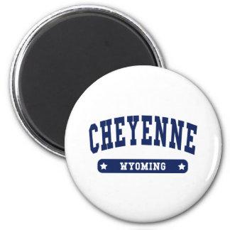 Camisetas del estilo de la universidad de Cheyenne Iman De Frigorífico