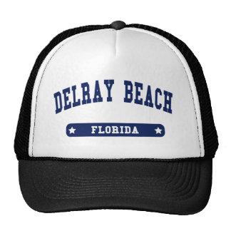 Camisetas del estilo de la universidad de Delray B Gorras