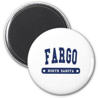 Camisetas del estilo de la universidad de Fargo Da Imán Redondo 5 Cm