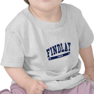 Camisetas del estilo de la universidad de Findlay