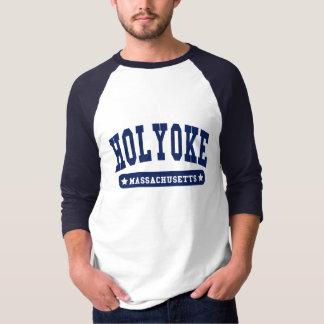 Camisetas del estilo de la universidad de Holyoke Playeras