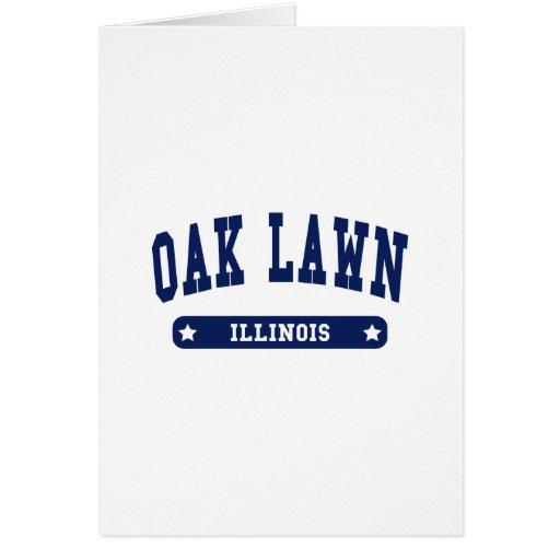 Camisetas del estilo de la universidad de Illinois Tarjeta