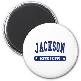 Camisetas del estilo de la universidad de Jackson Imán De Frigorífico