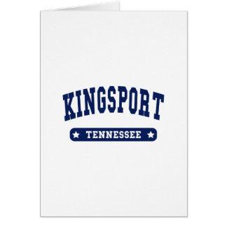 Camisetas del estilo de la universidad de Kingspor Tarjetas