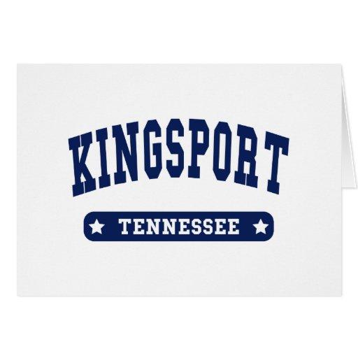 Camisetas del estilo de la universidad de Kingspor Felicitaciones