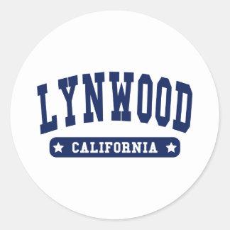 Camisetas del estilo de la universidad de Lynwood Pegatinas Redondas