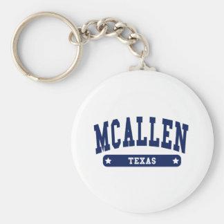 Camisetas del estilo de la universidad de McAllen  Llavero Personalizado