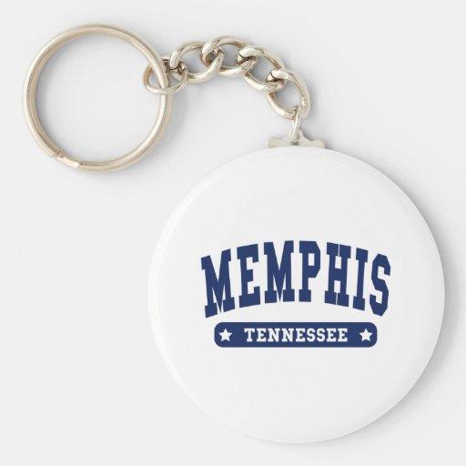 Camisetas del estilo de la universidad de Memphis  Llaveros Personalizados