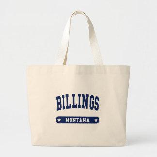 Camisetas del estilo de la universidad de Montana  Bolsa Tela Grande