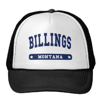 Camisetas del estilo de la universidad de Montana Gorros