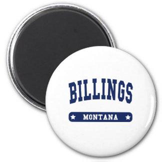 Camisetas del estilo de la universidad de Montana  Imán Redondo 5 Cm