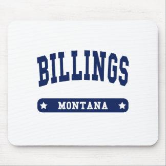 Camisetas del estilo de la universidad de Montana  Tapetes De Ratón