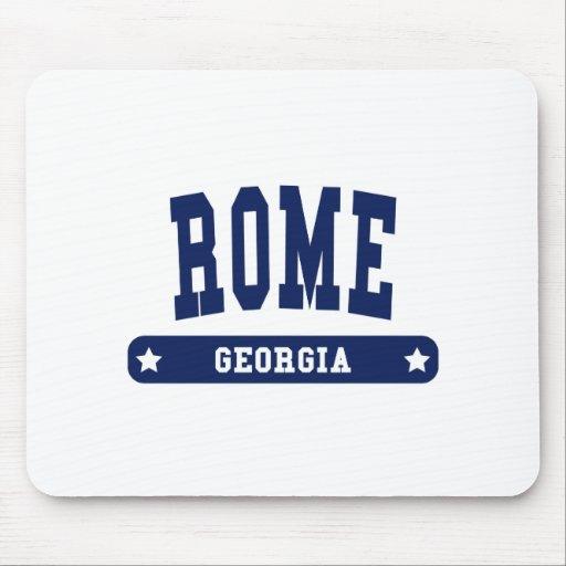 Camisetas del estilo de la universidad de Roma Geo Tapete De Raton