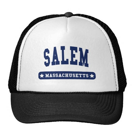 Camisetas del estilo de la universidad de Salem Ma Gorra