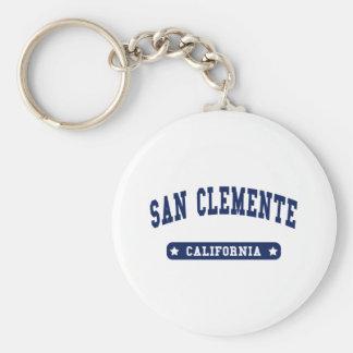 Camisetas del estilo de la universidad de San Clem Llavero Redondo Tipo Pin