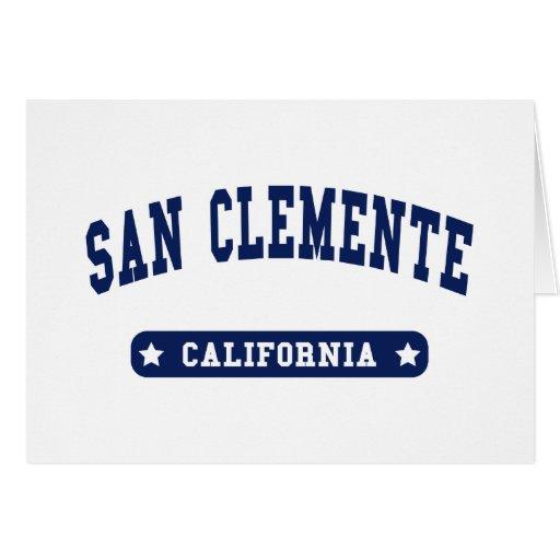 Camisetas del estilo de la universidad de San Clem Tarjetón
