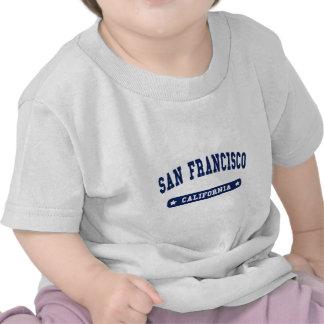 Camisetas del estilo de la universidad de San Fran