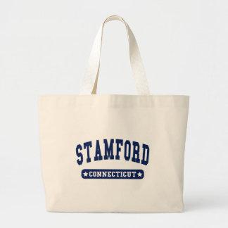 Camisetas del estilo de la universidad de Stamford Bolsa Lienzo