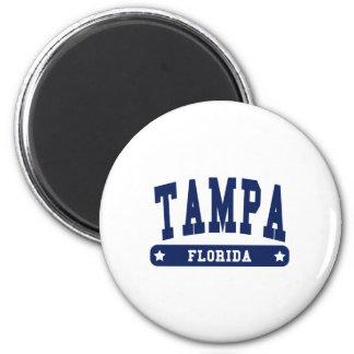 Camisetas del estilo de la universidad de Tampa la Imán Redondo 5 Cm