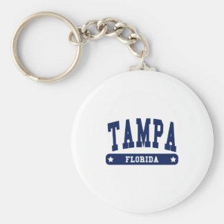 Camisetas del estilo de la universidad de Tampa la Llavero Redondo Tipo Pin