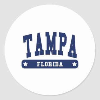 Camisetas del estilo de la universidad de Tampa la Pegatina Redonda