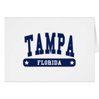 Camisetas del estilo de la universidad de Tampa la Tarjeta De Felicitación