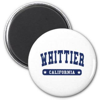 Camisetas del estilo de la universidad de Whittier Imán Redondo 5 Cm
