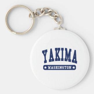 Camisetas del estilo de la universidad de Yakima W Llaveros