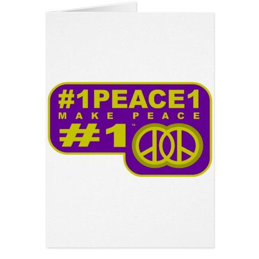 camisetas del fabricante de la paz del gorjeo #1pe tarjeta de felicitación