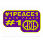 camisetas del fabricante de la paz del gorjeo #1pe tarjeta postal