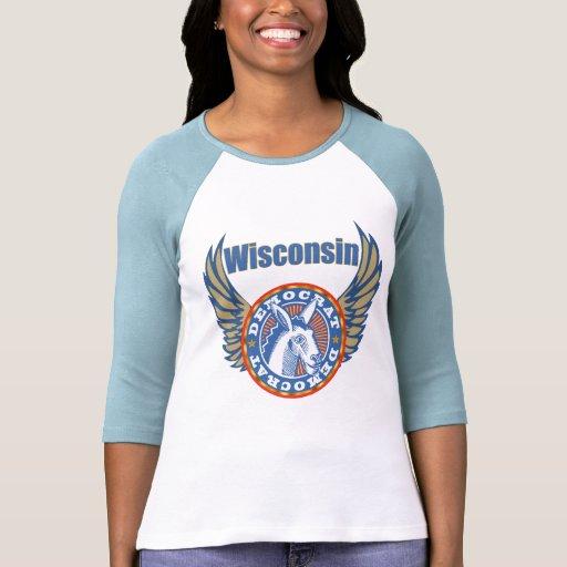 Camisetas del fiesta de Wisconsin Demócrata
