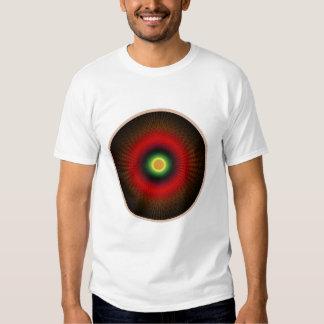 Camisetas del fractal del círculo de Concentrica Remera