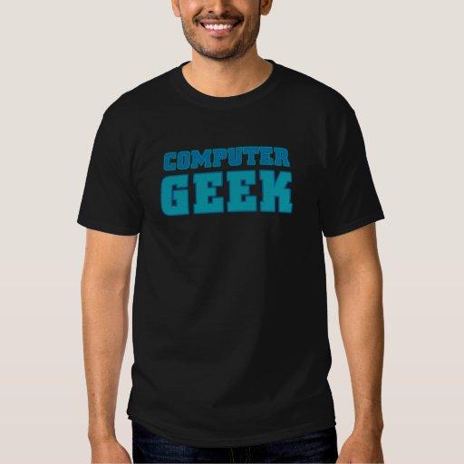 Camisetas del friki del ordenador playeras