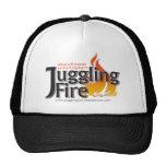 Camisetas del fuego que hace juegos malabares, gor gorras