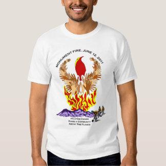 Camisetas del fuego y de la inundación del monumen playeras